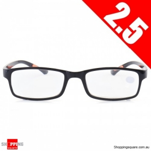 Portable Light Weight Resin Relieve Reading Glasses - 2.5