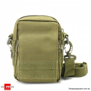 Outdoor Tactical Molle Pouch Utility Sports Oxford Waist Bag Cell Phone Holder Case - Army Green