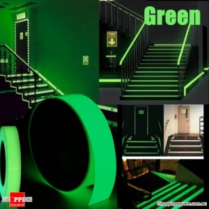 5mx15mm Luminous Tape Self-adhesive Glowing In The Dark Safety Stage Decor Sticker - Green