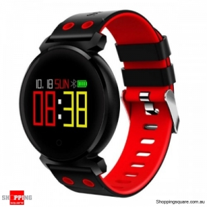 OLED HD Color Display Bluetooth Swimming Long Stand-by Time Smart Watch - Red