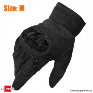 Tactical Military Motorcycle Bicycle Bike Airsoft Hunting Full Finger Protective Gloves Size: M
