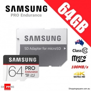 Samsung Pro Endurance 64GB micro SDXC Memory Card 100MB/s + Adapter