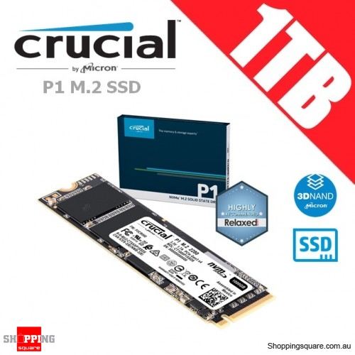 Crucial P1 1TB 3D NAND NVMe PCIe M.2 SSD Solid State Drive