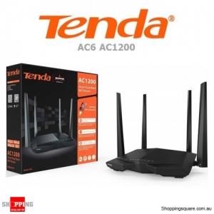Tenda AC6 AC1200 Smart Dual Band WiFi Router Black