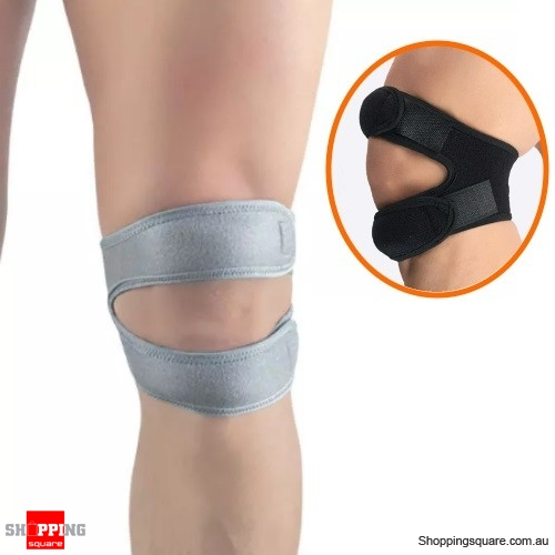 Adjustable Elastic Knee Support Pad Outdoor Sports Fitness Knee Exercise Protector - Gray