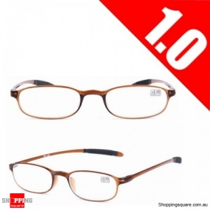 Ultralight Unbreakable Resin Best Reading Glasses Pressure Reduce Magnifying - Brown 1.0