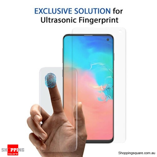NUGLAS 3D Tempered Glass Screen Protector for Samsung Galaxy S10 Clear Colour