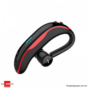 Wireless Bluetooth Earphone Stereo Noise Cancelling Sports Handsfree Headset With Mic - Red