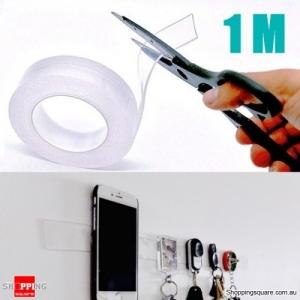 Multifunction Strong Adsorption Tape Waterproof Magic Tape Reusable Seamless Tape - 1 Meter