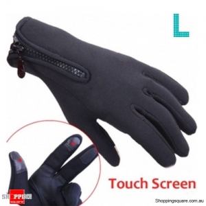 Outdoor Winter Sports Bike Cycling Skiing Touch Screen Gloves - L