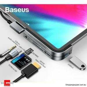 Baseus USB C HUB to HDMI USB 3.0 TF/SD 3.5mm AUX PD for iPad Pro MacBook Surface