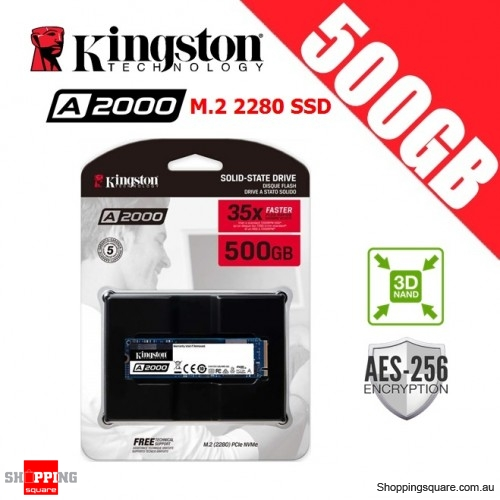 Kingston A2000 500GB M.2 2280 3D NAND SSD Solid State Drive
