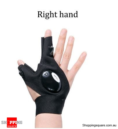 Waterproof Lighting Work Gloves with LED Light for Repair Tool Kit - B Right Hand
