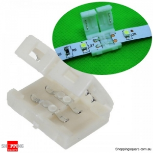 8mm 2PIN Connector PCB For 3528 LED Strip Solderless Lot single Color