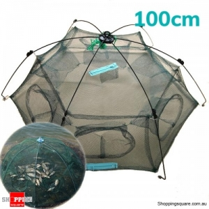 Folding Crab fish Minnow Fishing Shrimp Trap Cast Net Fishing Net - 100cm