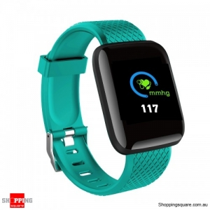 Color Screen Touch Wristband Visible Message Show Smart Watch - Green