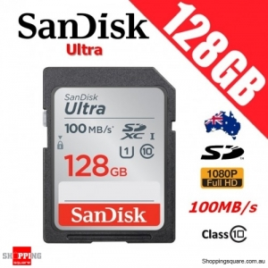 SanDisk Ultra 128GB SD SDXC UHS-I Class 10 Memory Card 100MB/s