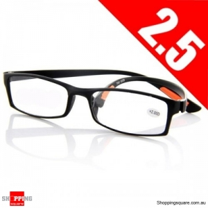 Black 2.5 Light Weight Resin Fatigue Relieve Reading Glasses Strength - 2.5