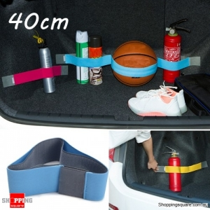 40cm Elastic Oxford Car Trunk Fixed Strap Magic Tape Sundry Stowing Tidying Strorage Belt - Blue 20cm