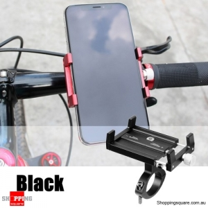 Adjustable Aluminum Phone GPS Holder Mount - Black