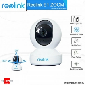 Reolink E1 Zoom 5MP WiFi PTZ Security Camera Pan&Tilt 3X Optical Zoom IP Camera