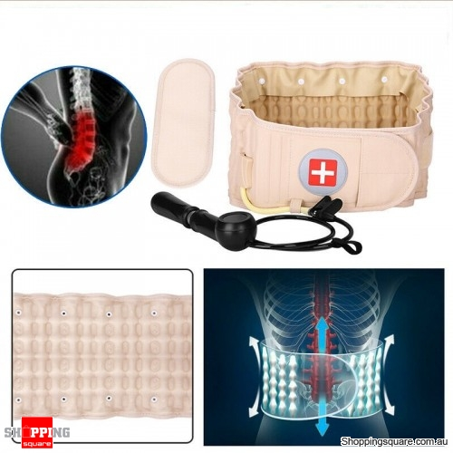 Inflatable Back Belt Spinal Lumbar Support Decompression Pain Air Traction Belt