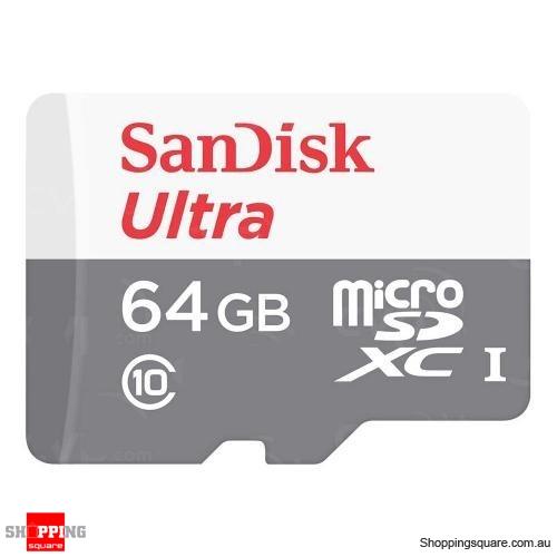 SanDisk Ultra 64GB microSDXC Card C10 100MB/s (QUNR)