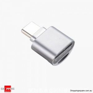 Universal USB 3.1 Type-C to Micro SD Memory Card Reader Adapter for Mobile Phone - Silver Colour