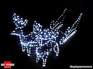Deer sled 3D Christmas Light 44 x 31 x 63 cm
