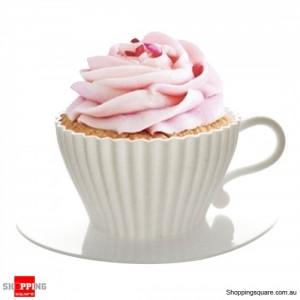 4 Tea Cupcakes Bake & Serve Cupcake Silicone Moulds