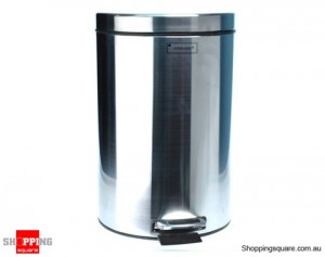Stainless Steel Kitchen Homeware Waste Dust Bin with Pedal 5 Liter