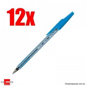 12x Pilot BP-S Ballpoint Pen Medium Blue