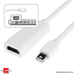 23cm Mini DisplayPort Display Port Male to HDMI Female Cable