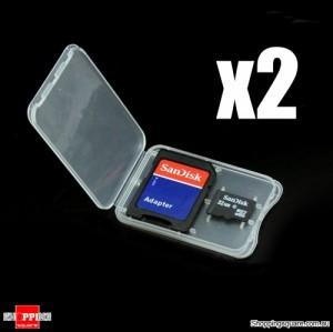 Clear SD TF memory card holder 2 pcs