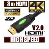 3M HDMI Cable v2.0 3D High Speed with Ethernet HEC 4K Ultra HD Digital Gold Plated