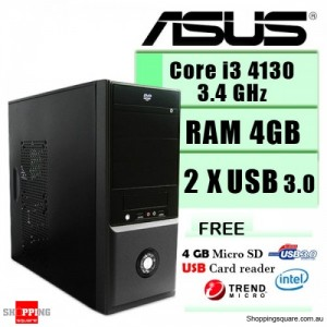 ASUS Core i3 3.4Ghz Upgrade Tower - Recycle your old HDD and CD/DVD Drive