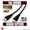 OD 4.2 1m HDMI Cable Gold Plated high Speed 3D Audio 1080P