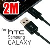 Samsung 2m USB to Micro USB Charging Data Cable Black for Galaxy, HTC , MP3, MP4