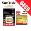SanDisk Extreme Compact Flash 64GB Memory Card 120MB/s for DSLR Digital Camera FHD