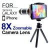 8X Camera Zoom Lens Kits with tripod for iPhone Samsung Galaxy Smartphone