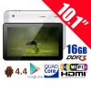 10.1 Inches Quad Core Android 4.4 Tablet PC 16GB HDMI WiFi Support MicroSDHC Up to 32GB