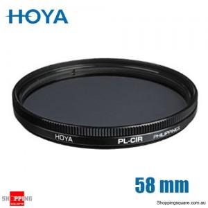 Hoya Circular Polarizer Filter 58mm for Camera Lens