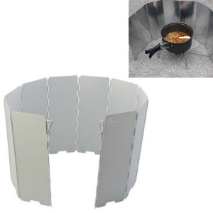 Foldable Aluminum BBQ Cooking WindShield Plates for Hiking & Camping
