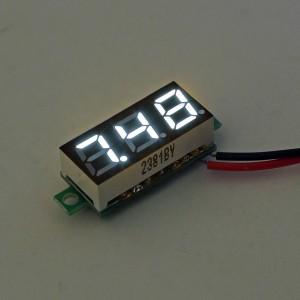 0.28 Inch 2.5V-30V Mini Digital Voltmeter Voltage Tester Meter White Colour
