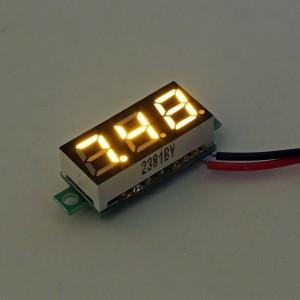 0.28 Inch 2.5V-30V Mini Digital Voltmeter Voltage Tester Meter Yellow Colour
