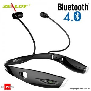 Zealot H1 Wireless Bluetooth 4.0 Sport Anti-sweat Stereo Earphone Headphone With Voice Control Black Colour