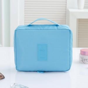 Portable Travel Organizer Cosmetic Makeup Storage Bag Sky Blue Colour
