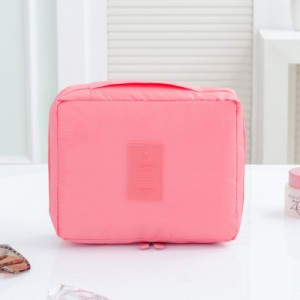 Portable Travel Organizer Cosmetic Makeup Storage Bag Gray Colour Pink Colour