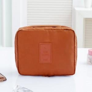 Portable Travel Organizer Storage Bag Cosmetic Makeup Bag Toiletry Wash Case Hanging Pouch  Orange   Colour