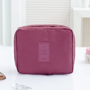 Portable Travel Organizer Cosmetic Makeup Storage Bag Wine Red Colour